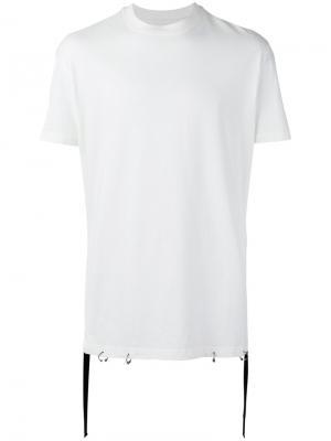 Tape detail T-shirt D.Gnak. Цвет: белый