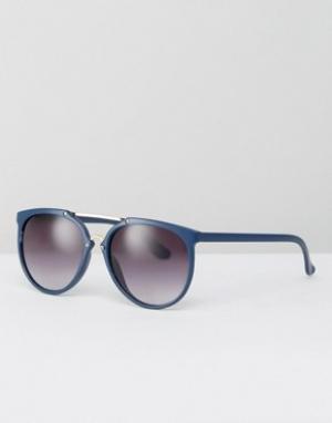 Jeepers Peepers Круглые солнцезащитные очки. Цвет: синий