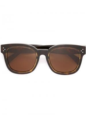 Солнцезащитные очки в круглой оправе Céline Eyewear. Цвет: чёрный