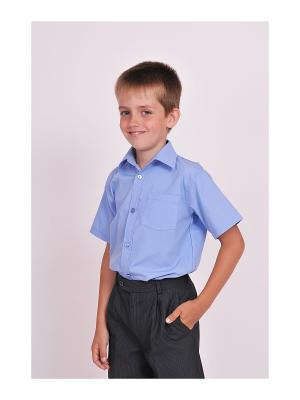 Рубашка SEMICVET. Цвет: голубой