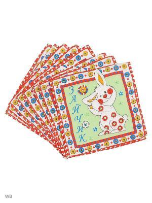 Набор платков носовых детских Римейн. Цвет: зеленый, красный