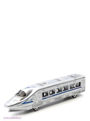 Поезд, 33см VELD-CO. Цвет: серебристый