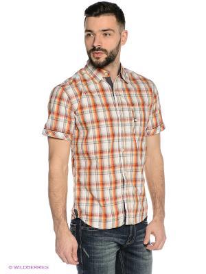 Рубашка Mavango. Цвет: бежевый, оранжевый
