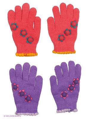 Перчатки FOMAS. Цвет: фиолетовый, розовый