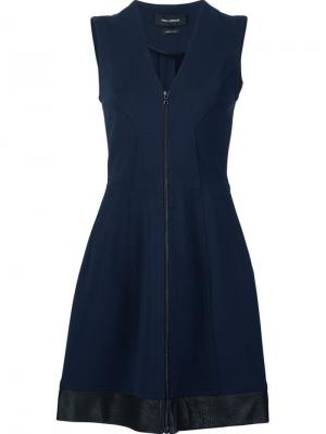 Платье c V-образным вырезом Yigal Azrouel. Цвет: синий