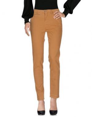 Повседневные брюки NOLITA. Цвет: охра