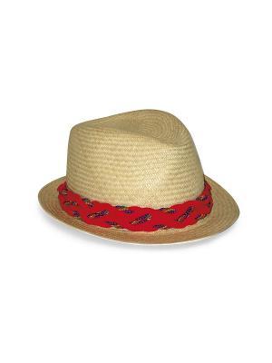 Шляпа Saha. Цвет: бежевый, коралловый