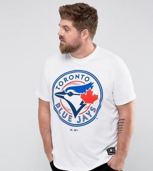 Majestic Футболка с принтом PLUS MLB Toronto Blue Jays. Цвет: белый