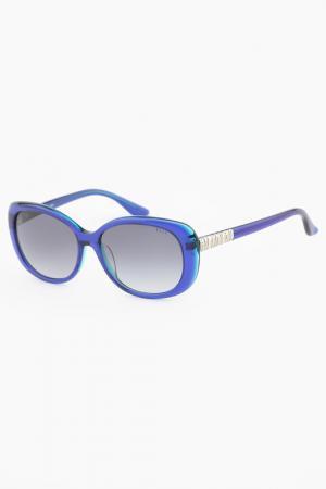 Очки солнцезащитные ELLE. Цвет: синий