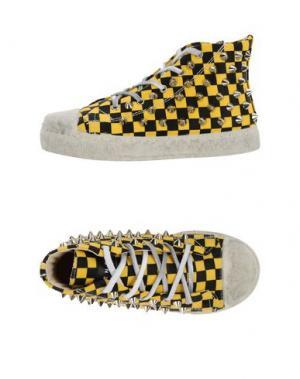 Высокие кеды и кроссовки GIENCHI. Цвет: желтый