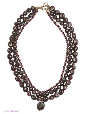 Ожерелье Polina Selezneva. Цвет: коричневый