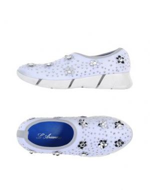 Низкие кеды и кроссовки L'ARIANNA. Цвет: белый