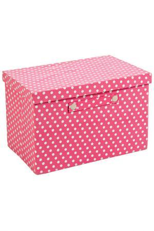 Складная коробка для хранения Bizzotto. Цвет: розовый, белый