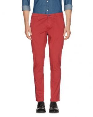Повседневные брюки 0/ZERO CONSTRUCTION. Цвет: красный