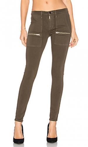 Супер узкие брюки карго Black Orchid. Цвет: none