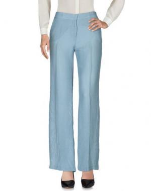 Повседневные брюки E_GO' SONIA DE NISCO. Цвет: небесно-голубой