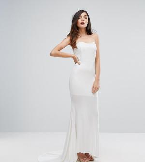 Club L Платье-бандо макси. Цвет: белый