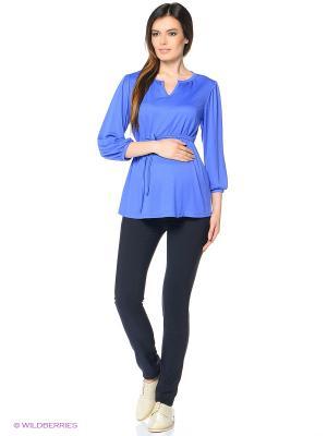 Блузка женская для беременных Hunny Mammy. Цвет: голубой