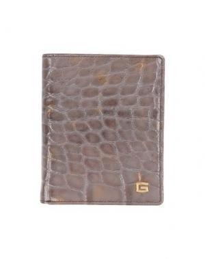 Бумажник GIUDI. Цвет: голубиный серый