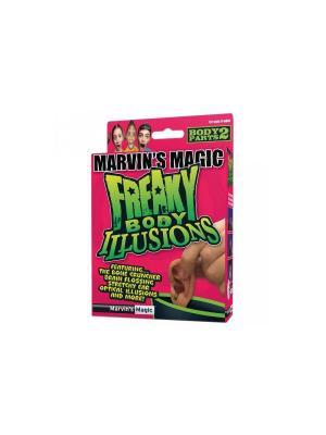 Набор №2 фокусов Смешные ужасы и иллюзии с частями тела от Marvins Magic. Цвет: зеленый, розовый
