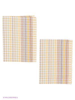 Набор полотенец лен Метиз. Цвет: бежевый, красный
