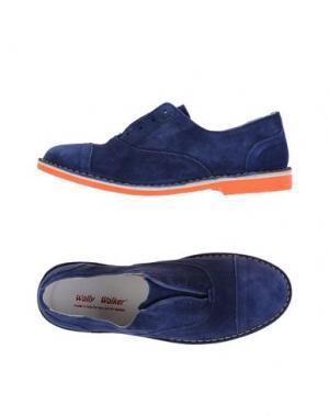 Обувь на шнурках WALLY WALKER. Цвет: темно-синий