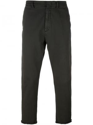 Зауженные брюки Baldo Pence. Цвет: серый