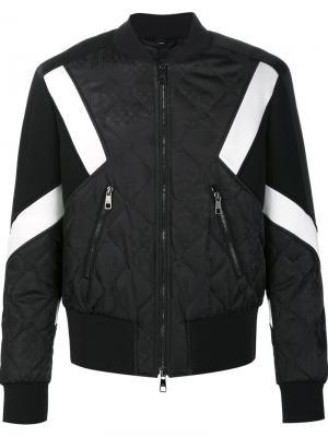 Стеганая куртка-бомбер Neil Barrett. Цвет: чёрный