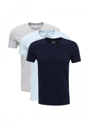 Комплект футболок 3 шт. oodji. Цвет: разноцветный