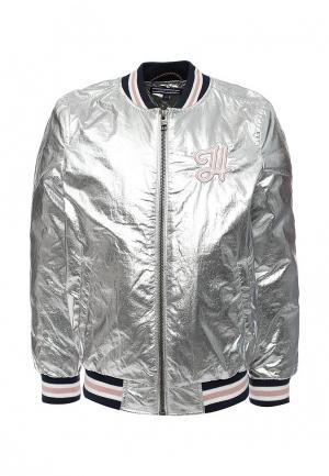 Куртка утепленная Tommy Hilfiger. Цвет: серебряный