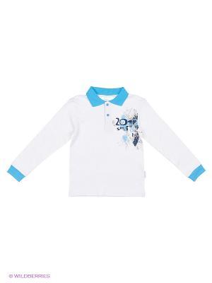 Рубашка- поло(джемпер) Cherubino. Цвет: белый