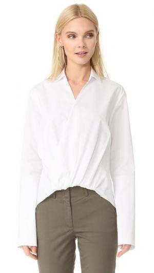 Рубашка Danis с драпировкой спереди JENNY PARK. Цвет: белый