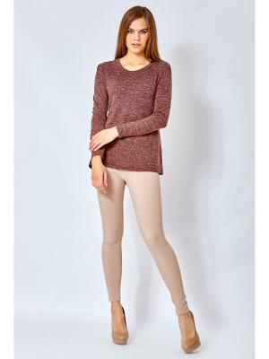 Блузка blans. Цвет: светло-коричневый