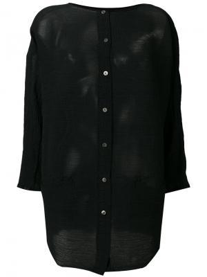 Фактурная рубашка Issey Miyake Cauliflower. Цвет: чёрный