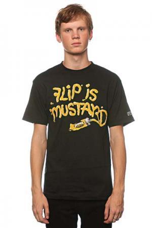 Футболка  Mustard Black Flip. Цвет: черный