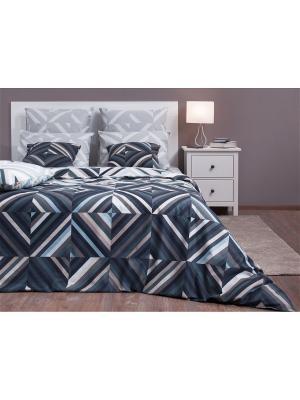 Полутороспальное постельное белье Хлопковый Край. Бязь-люкс. Край. Цвет: серый, темно-серый, светло-серый