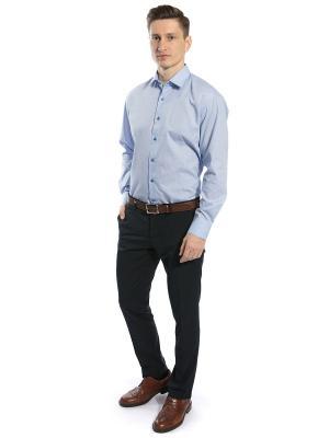 Рубашка GroStyle. Цвет: синий, белый, голубой