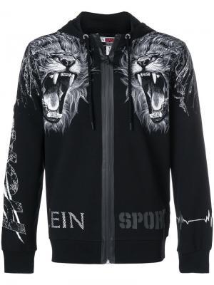 Худи с принтом льва Plein Sport. Цвет: чёрный