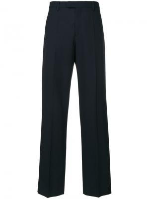 Классические прямые брюки Maison Margiela. Цвет: синий
