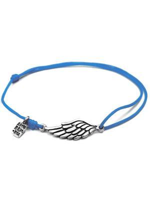 Второе крыло, браслет Amorem. Цвет: серебристый, голубой