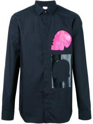 Рубашка с принтом черепа Cy Choi. Цвет: чёрный