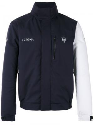 Куртка Maserati с контрастными рукавами Z Zegna. Цвет: чёрный