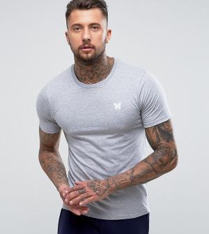 Good For Nothing Серая облегающая футболка с логотипом на груди. Цвет: серый