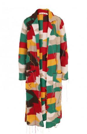 Вязаное пальто свободного кроя Marni. Цвет: разноцветный