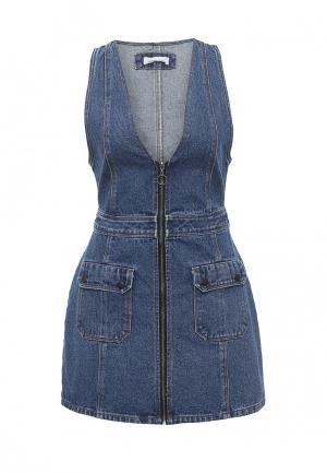 Платье джинсовое Urban Bliss. Цвет: синий