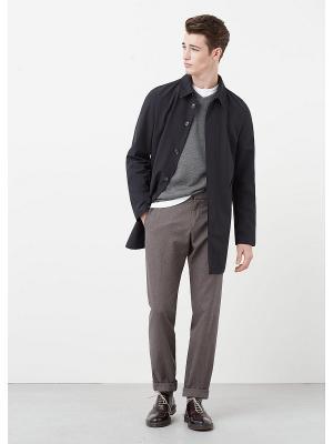 Пальто MANGO MAN. Цвет: черный