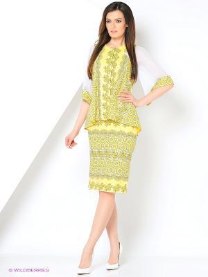 Блузка ZAYKINS. Цвет: желтый