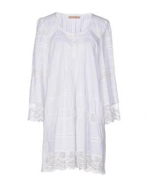Короткое платье SETE DI JAIPUR. Цвет: белый