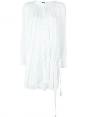 Плиссированная рубашка Ann Demeulemeester. Цвет: белый