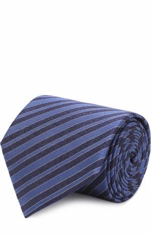 Шелковый галстук с узором Lanvin. Цвет: темно-синий